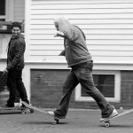 J. Mascis of Dinosaur Jr. having fun skateboarding!